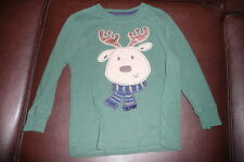 4T Jumping Beans green shirt reindeer applique EUC Holiday Christmas
