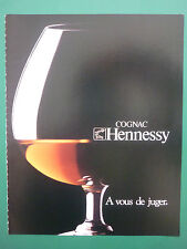 4/1979 PUB PAPIER COGNAC HENNESSY ALCOOL BOISSON ORIGINAL FRENCH ADVERT