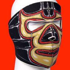 El Loco Mexican Wrestler Full Face Neoprene Mask Biker ATV Ski Reversable Black