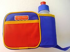 FISHER-PRICE BLUE, RED & YELLOW BELLY BAG WITH POP-TOP SIPPY CONTAINER ~ NEW