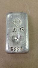 Johnson Matthey, 10oz Poured .999 Silver Bar, Vintage JM