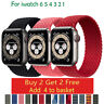 Braided Solo Loop For Apple watch band Nylon Elastic iWatch series 3 4 5 6 SE US