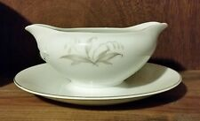 Vintage Kaysons Golden Rhapsody China Disc 1961 Gravy Boat Attached Tray