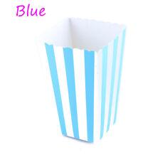 500 bolsas de papel azul escoger y mezclar Candy Stripe de palomitas de maíz dulce de fiesta 10cm X 25cm