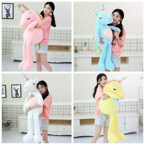 Soft Giant Plush Jumbo Pink Unicorn Toys Stuffed Animal Doll Kids Gifts Xmas