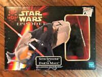 1999 Hasbro Star Wars Episode I: Sith Speeder and Darth Maul Action Figure Great