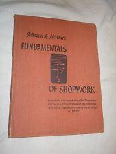 Fundamentals of Shopwork  by William H. Johnson & Louis V. Newkirk (1943, HC