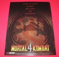 Midway MORTAL KOMBAT 4 1997 Original NOS Video Arcade Game Promo Sales Flyer MK4