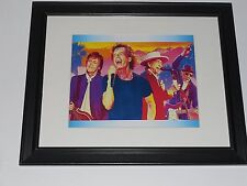 Framed Rock Legends Paul McCartney, Bob Dylan, Mick Jagger, Pete Townshend