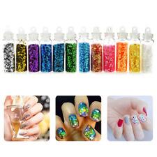 12 Pcs Glitter Powder Dust Set Nail Art Acrylic UV Gel Tips Set DIY Decoration