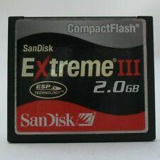 2GB SANDISK EXTREME III COMPACTFLASH CF COMPACT FLASH MEMORY CARD 2 G B