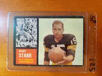 1962 Topps #63 Bart Starr HOF SHORT PRINT Green Bay Packers / Alabama