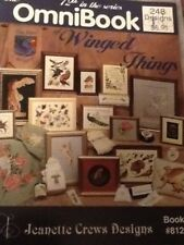 CROSS STITCH PATTERN BOOK WINGED THINGS