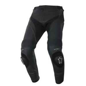 Alpinestars Missile Leather Motorcycle Pants Black Black - Short Leg