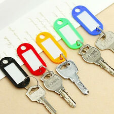 5PCS Colorful Plastic Key Label Name Tags Key Ring Split Ring For Home Office CN