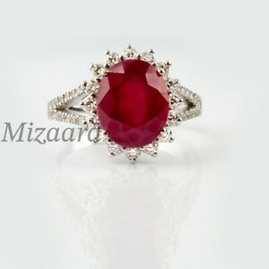 RUBY & CZ HOLO WOMENS GIFT SIGNET STATEMENT ENGAGEMENT ANNIVERSARY  RING YP016