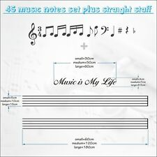 45 Music Notes Vinyl Wall Sticker Love  Art Home Decoration Room High Quiality