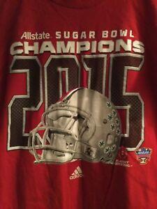 Ohio State Buckeyes 2015 Sugar Bowl Champions Red adidas T-Shirt Size Medium