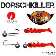 DORSCHKILLER - SET DELALANDE SKELETON Red Glitter + VMC BAITHOLDER 8/0 50 g