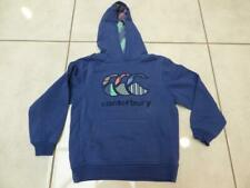 Canterbury Rugby hoodie hooded jumper top in blue , Size 7-8 years