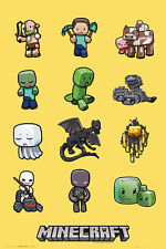 (LAMINATED) MINECRAFT CHARACTERS POSTER (61x91cm)  PICTURE PRINT NEW ART