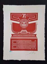 Shepard Fairey Chinese Banner #1 Letterpress Signed LE obey not banksy dolk kaws