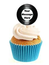 Personalised Vinyl 'LP' Image 12 Edible Stand Up wafer paper cake toppers