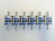 6 Stück Autogas Filter Gasfilter 11 mm LPG CNG 11/11 z.B. KME BRC