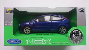 WELLY FORD FOCUS ST BLUE 1:34 DIE CAST METAL MODEL NEW IN BOX