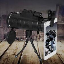 40x Zoom HD Clip Monocular Teleskop Objektiv Universal Kamera Doppel Ton 7350HC