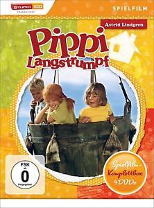 Astrid Lindgren: Pippi Langstrumpf - Spielfilm-Komplettbox [4 DVDs/NEU/OVP]