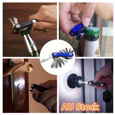 Compact Smart Key Holder Keyring Organizer Bottle Opener Pocket Tool LED Lights