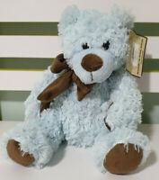 ANIPAL BLUE TEDDY BEAR BROWN SCARF 23CM