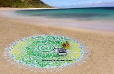 Bohème Ombre Mandala Tapisserie De Plage Hippie Jet Tapis De Yoga Indien Roundie