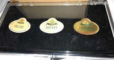 New! Disney 50th Anniversary Cast Exclusive Name Tag Replicas Boxed 3 Pin Set