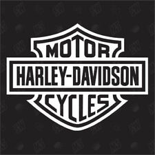 Harley Davidson Logo / Bar & Shield - Fan Sticker, Biker, Chopper Aufkleber