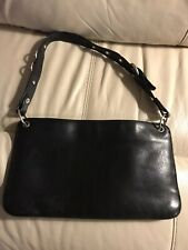 Vintage Hobo International Black Leather Shoulder Bag