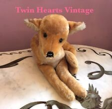 Vintage Reclining Spotted Fawn Young Deer By STEIFF