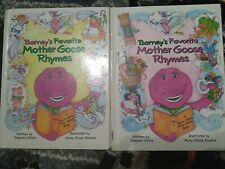 Barney's Favorite Mother Goose Rhymes Volume 1 and 2 hardcover