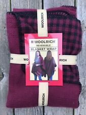 Woolrich Reversible Blanket Wrap - Rare Style Red Black Checkered Plaid