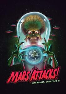 Mars Attacks  11x17in 16x24in Decor Gift Poster Gift