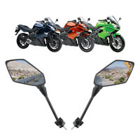 TCMT Pair Black Side Rear View Mirrors For Kawasaki NINJA 400R 2010 2011 2014