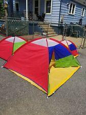 Orange ozark trail 3 room play tent for kids.