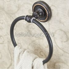 Black Oil Rubbed Brass Wall Mounted Bathroom Towel Ring Holder lba214
