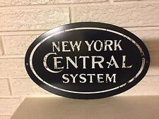 "New York Central Railroad Logo Steel Sign New 14"" x 9"""