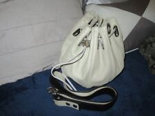 Mimco cocoon bucket small leather shoulder bag. Egg shell beige. Ex new cond