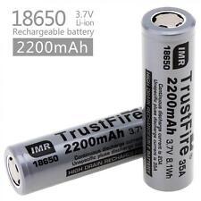 2pcs TrustFire 35A 3.7V IMR 18650 2200mah High Drain Rechargeable Li-ion Battery