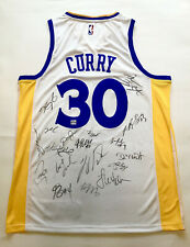 2018 NBA Champ 18+ GS WARRIORS TEAM SIGNED AUTOGRAPHED CURRY JERSEY COA DURANT