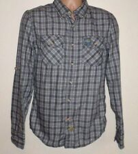 NEW SUPERDRY GREY CHECK SHIRT SMALL S  TOP MEN AUTHENTIC