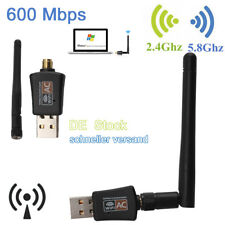 600 Mbps Mini Wifi Wlan Wireless Adapter USB WLAN Adapter mit Antenne für PC